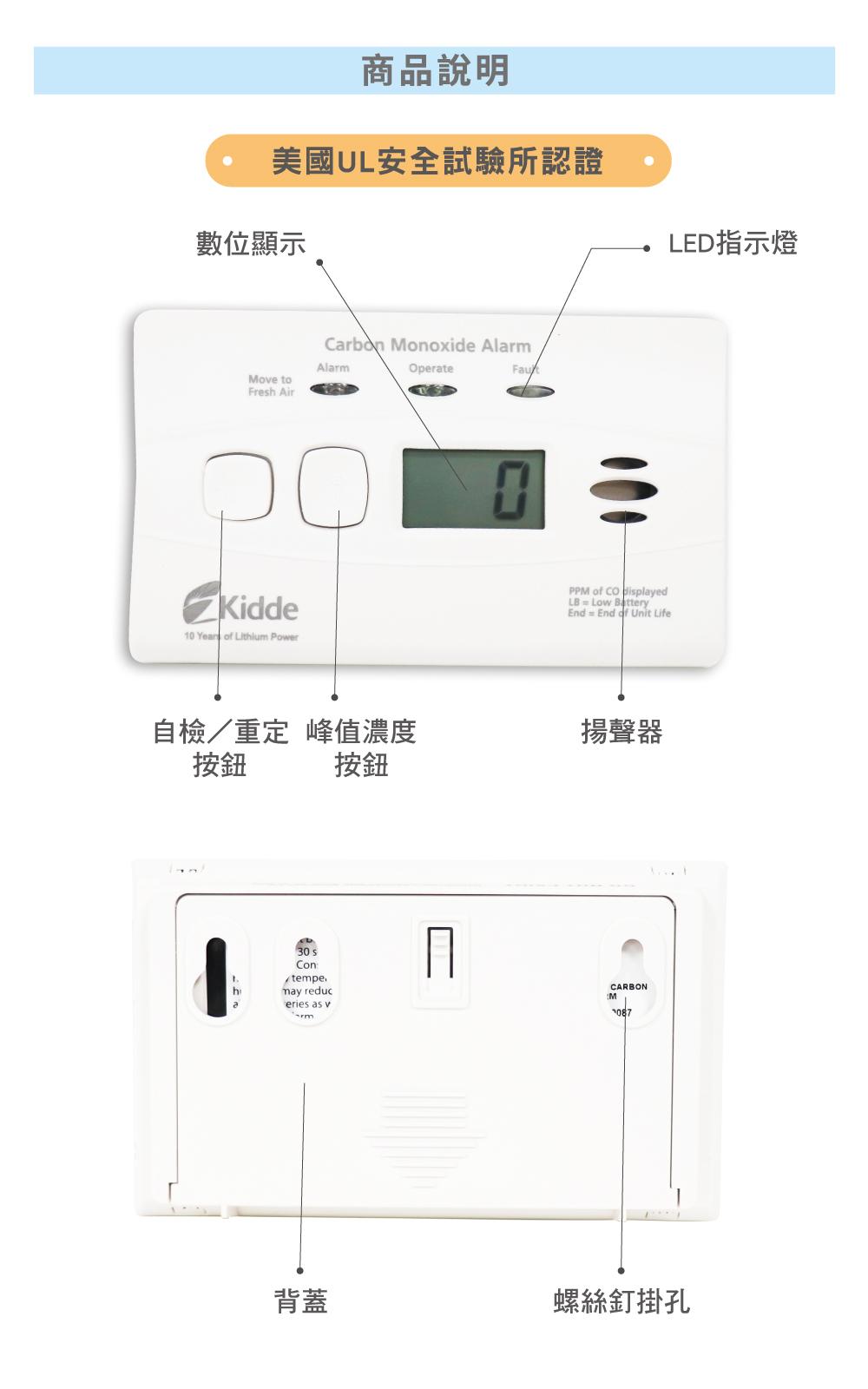 一氧化碳 警報器 認證
